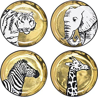 Jonathan Adler 23086 Animalia Coasters, Gold
