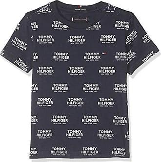 B/éb/é gar/çon 98 Bleu Taille Fabricant: 3 Black Iris 002 Tommy Hilfiger Essential Boxy Flag S//s T-Shirt