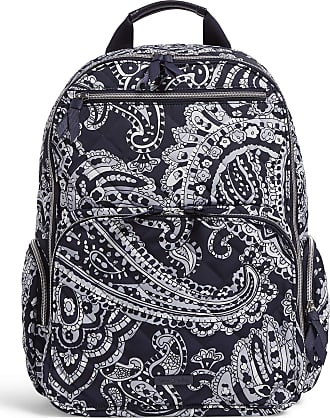 Vera Bradley Womens Iconic Performance Twill Commuter Backpack, Deep Night Paisley Neutral, One Size