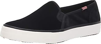 Keds Womens Double Decker Velvet Sneaker, Black, 10 M US