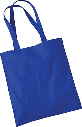 Westford Mill Womens Cotton Promo Shoulder Tote Carry Bag Bright Royal One Size