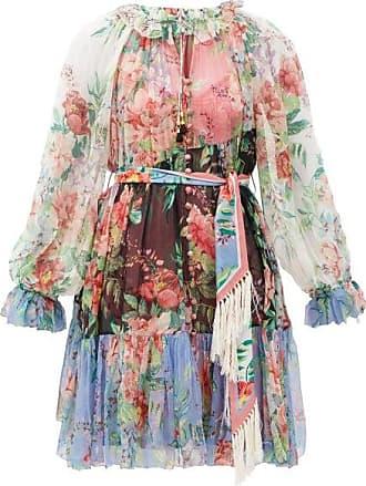 Zimmermann Bellitude Floral-print Silk-chiffon Mini Dress - Womens - Multi