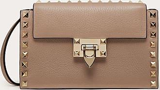 Valentino Garavani Valentino Garavani Rockstud Grainy Calfskin Crossbody Bag Women Poudre 100% Pelle Di Vitello - Bos Taurus OneSize
