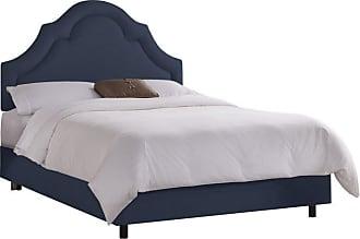 Skyline Furniture Arch Border Upholstered Bed Chalk, Size: Queen - 882BEDCHBCHK