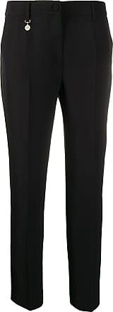 Blumarine Calça cropped cintura alta - Preto