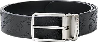 Emporio Armani All over logo belt - Black