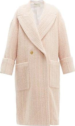 Alexandre Vauthier Oversized Wool-blend Bouclé-tweed Coat - Womens - Light Pink