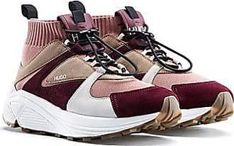 HUGO BOSS Sneakers aus Material-Mix mit Strickschaft und dicker Sohle