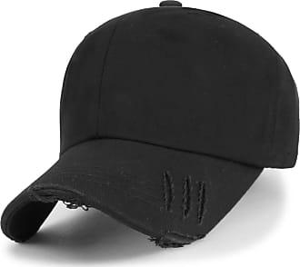 Ililily Vintage Washed Cotton Trucker Hat Big Size Baseball Cap, Black, Large