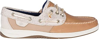 Sperry Top-Sider SPERRY Womens, Rosefish Slip On Boat Shoe Linen Oat Sparkle 6.5 M