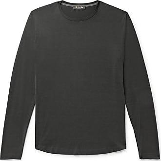 Loro Piana Slim-fit Silk And Cotton-blend Jersey T-shirt - Charcoal