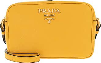 b63818c3de6db Prada Logo Crossbody Bag Calf Leather Soleil Umhängetasche gelb