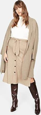 Violeta by Mango Belt checked skirt