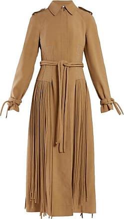 Gabriela Hearst Torres Fringed Wool-blend Coat - Womens - Camel