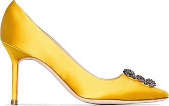 Manolo Blahnik Pumps Hangisi con fibbia - Di colore giallo