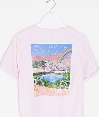 Wrangler T-shirt corta lilla con stampa rétro sul retro-Viola
