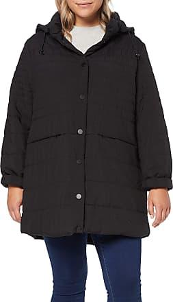 Ulla Popken Womens Longjacke mit Kapuze Jacket, Black (Black 10), UK 28
