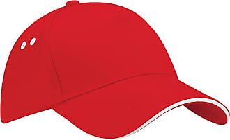 Beechfield ultimate 5 panel cap - sandwich peak, various colours - red - One size