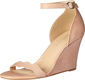 Chinese Laundry Womens Best Match Wedge Pump Sandal, Dark Nude Burnished, 9.5 M US