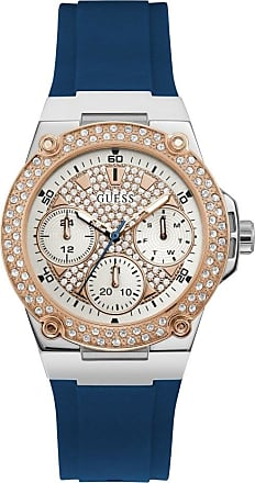 Acotis Limited Guess Watches Ladies Stainless Steel Glitz Multi-function Watch W1291L