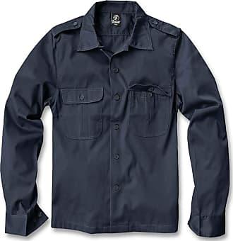 Brandit Mens US Hemd Langarm Shirt, Navy, XXXXX-Large