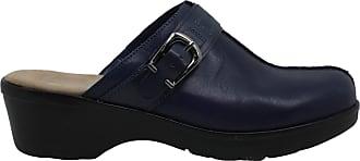 Easy Spirit Womens Pine Leather Closed Toe Clogs, Blue, Size 9.0 US / 7 UK US