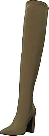 Qupid Womens SIGNAL-20 Over The Over The Knee Boot, Khaki, 10 M US