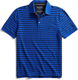 Nautica Mens Classic Fit Performance Stripe Polo Shirt, Corn, S
