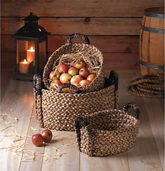 Zingz & Thingz Zingz and Thingz Rustic Woven Nesting Baskets (Set of 3)