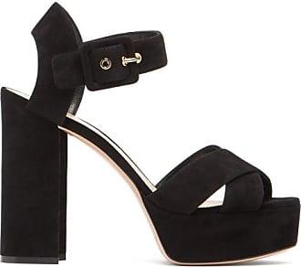 Nicholas Kirkwood Essential Mirrored-heel Suede Platform Sandals - Womens - Black