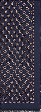 Gucci Schal aus Wolle mit Metallic-GG