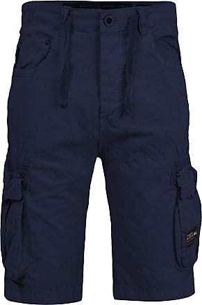 Crosshatch Mens Crossfin Camo Utility Cargo Shorts[Night Sky - Visually 19, 30 Waist]