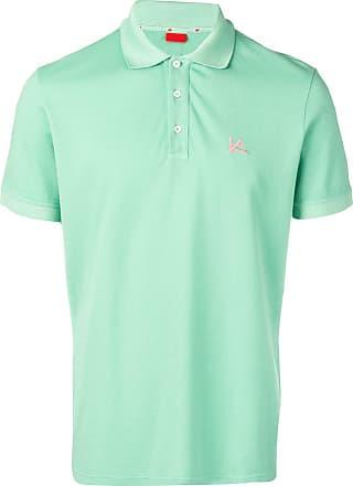 Isaia chest logo polo shirt - Green