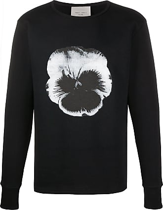 Frankie Morello Suéter decote careca com estampa de flor - Preto
