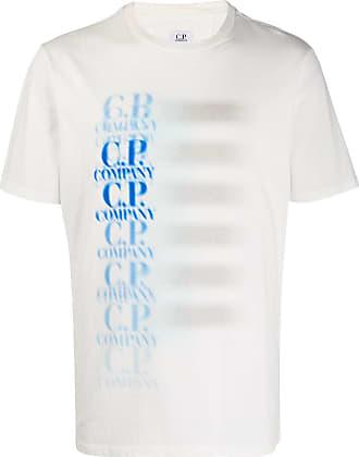 C.P. Company Camiseta mangas curtas com estampa de logo - Branco