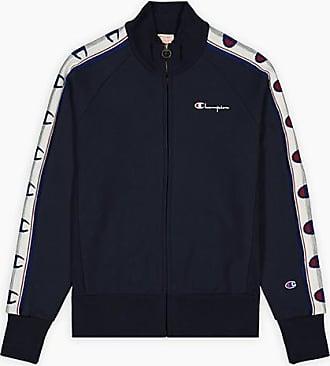 Champion Jacquard-Logo-Band Zip-Up Reverse Weave Jacket Navy - large