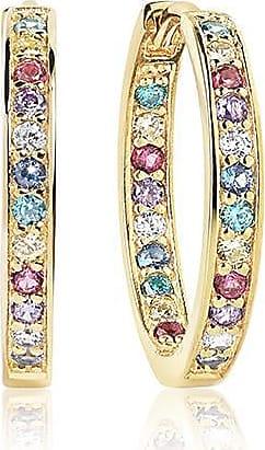Sif Jakobs Jewellery Ohrringe Corte - 18K vergoldet mit bunten Zirkonia