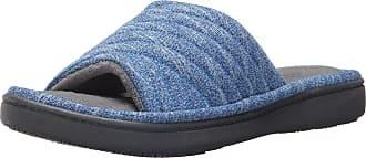 f8d7eb38b Isotoner Womens Space Knit Andrea Slide Slippers Sapphire Medium  7.5-8  Standard Width US