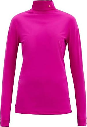 Raf Simons R-embroidered Roll-neck Jersey Top - Womens - Fuchsia
