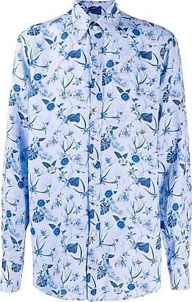 Paul & Shark Camisa com abotoamento e estampa floral tropical - Azul