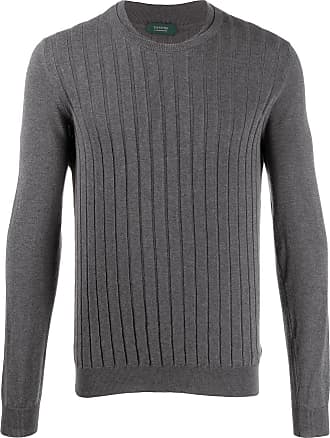 Zanone Suéter de tricô - Cinza