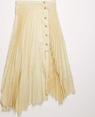 Acne Studios FN-WN-SKIR000162 Cream beige Pleated asymmetric skirt
