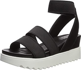 8bceef7dcd8 Steven by Steve Madden Womens NC-Kelly Sandal Black 10 M US