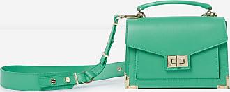 The Kooples The Kooples - Sac mini Emily cuir lisse vert clair métallerie dorée - FEMME