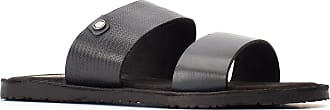 Base London Mens Julius Waxy Leather Slip On Slider Sandals