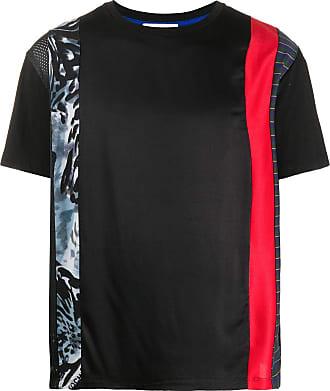 Koché short-sleeved contrasting stripe T-shirt - Preto