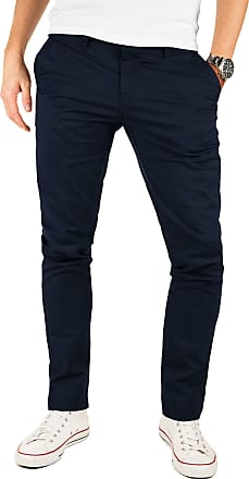 Yazubi Mens Trousers Chinos Pants Denim Kyle - Skinny Slim Fit Royal Navy Teal Aqua, Blue (Night Sky 4R193924), W38/L36