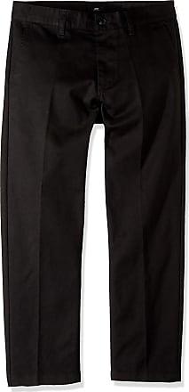 Obey Mens Straggler Slim Flooded Pants, Black, 32