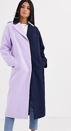 Asos Tall ASOS DESIGN Tall - Mantel mit Blockfarben-Mehrfarbig