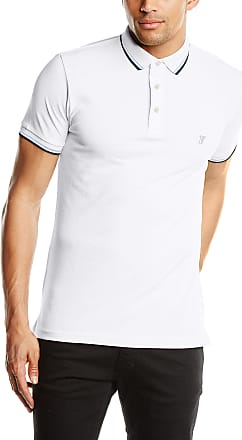 Marine//White French Connection Mercerised Tipped Polo Shirt